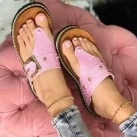 women sandals 2021 summer outdoor beach flip flop sandals solid fashion gladiator sandals women flats casual ladies shoes