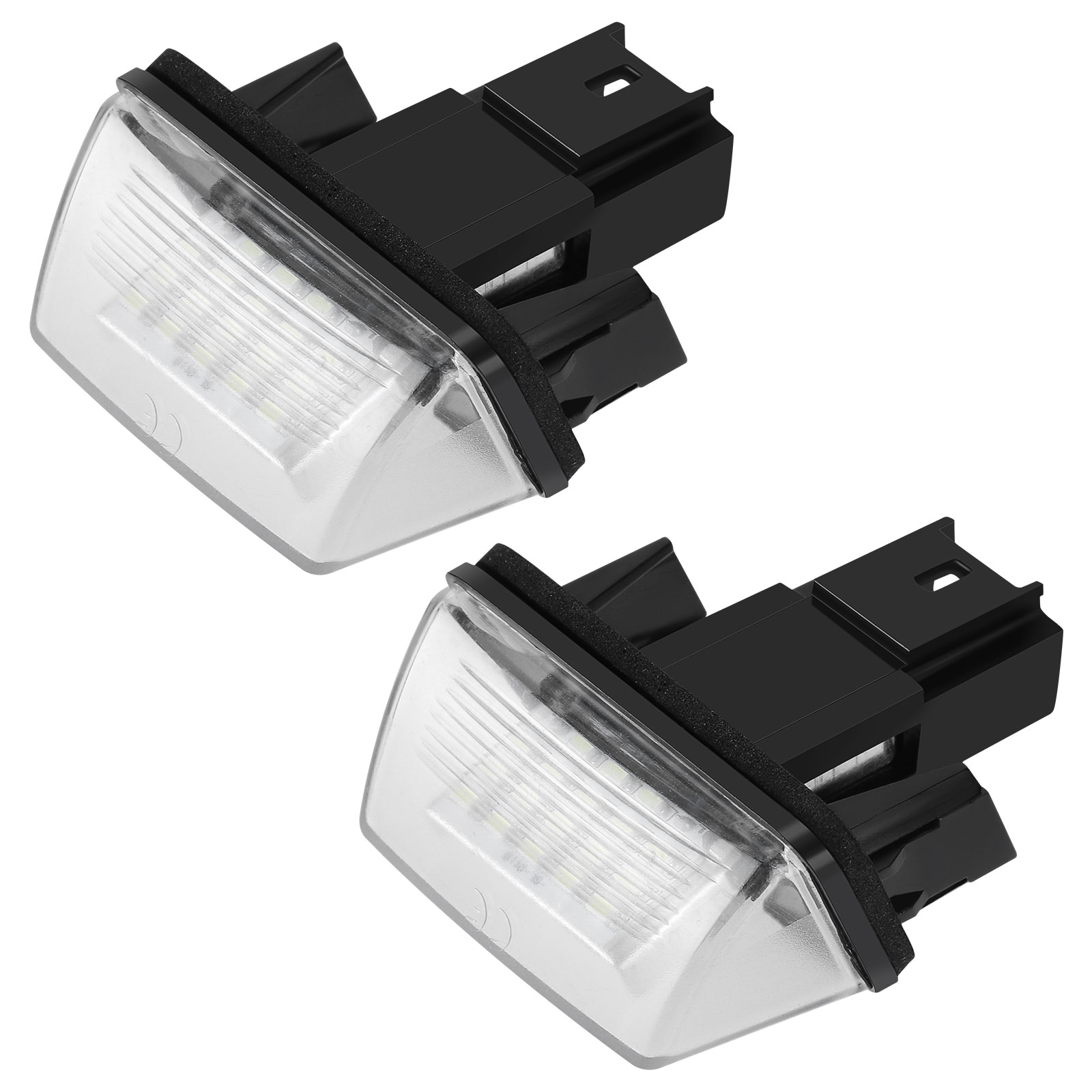Светильник ПА для автомобильного номерного знака, 2 шт., 12 В, 18 светодиодов, 12 В, 6500K, лампа для Peugeot 206, 207, 307, 308, 406, 407, для Citroen C3, C4, C5, C6