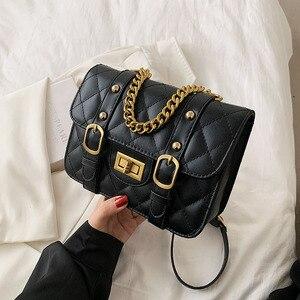 Charming Pu Leather Women Shoulder Bags Brand Designer Cute Metal Rivets And Lock Crossbody Bags Luxury Chain Female Handbags