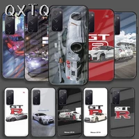 sports car skyline gtr tempered glass phone case for samsung galaxy note s 8 9 10 20 21 e plus ultra m 31 51 fe cover cell tpu