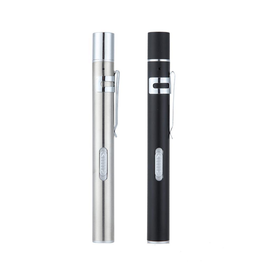 USB Rechargeable Medical Handy Pen Light Mini Nursing Flashlight LED Torch Lamp With Stainless Steel Clip Pocket Led Flashlight enlarge