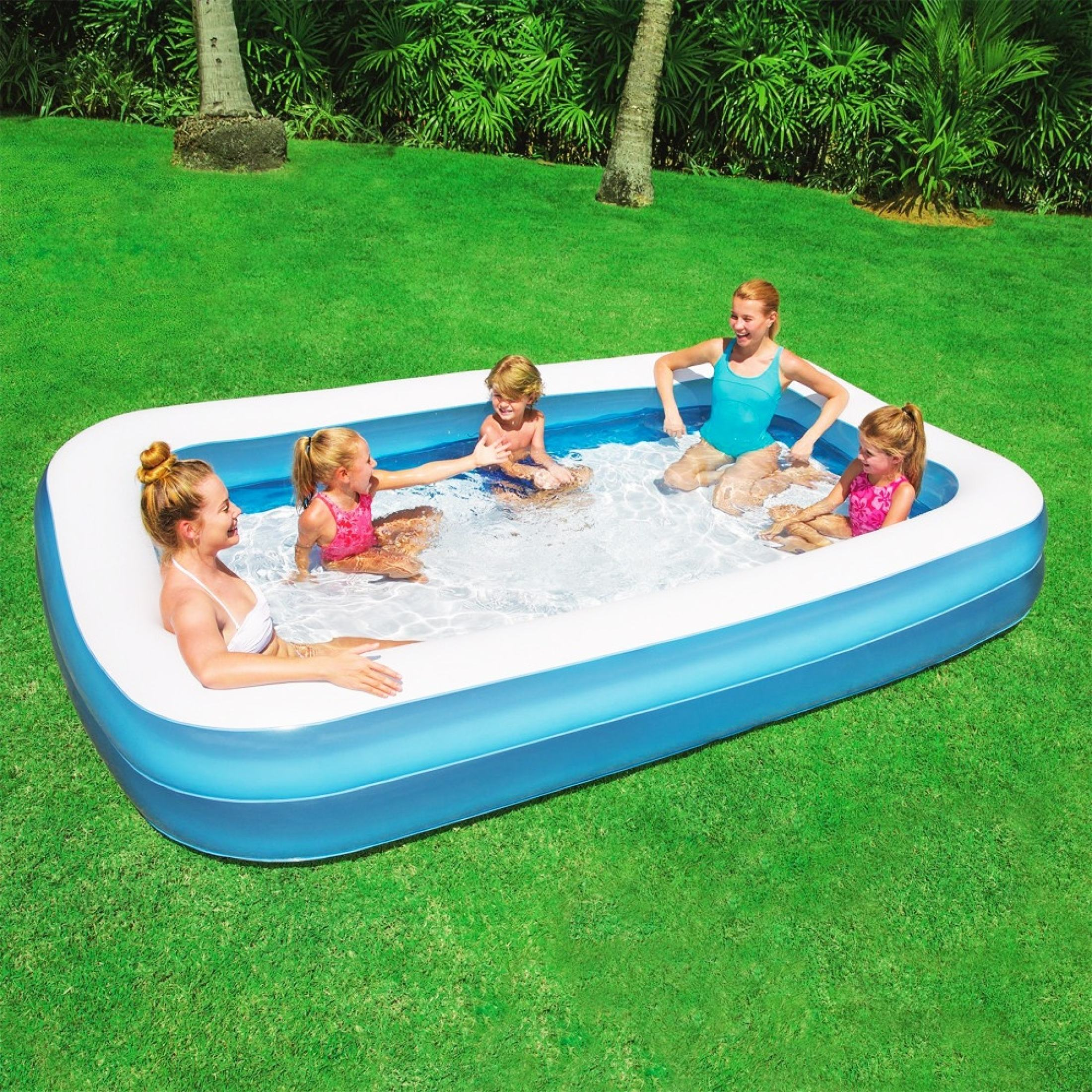 2 /3 M Rectangular Inflatable Swimming Pool Large pools for family PVC Paddling Pool Bathing Tub Outdoor Summer Pool For Kid