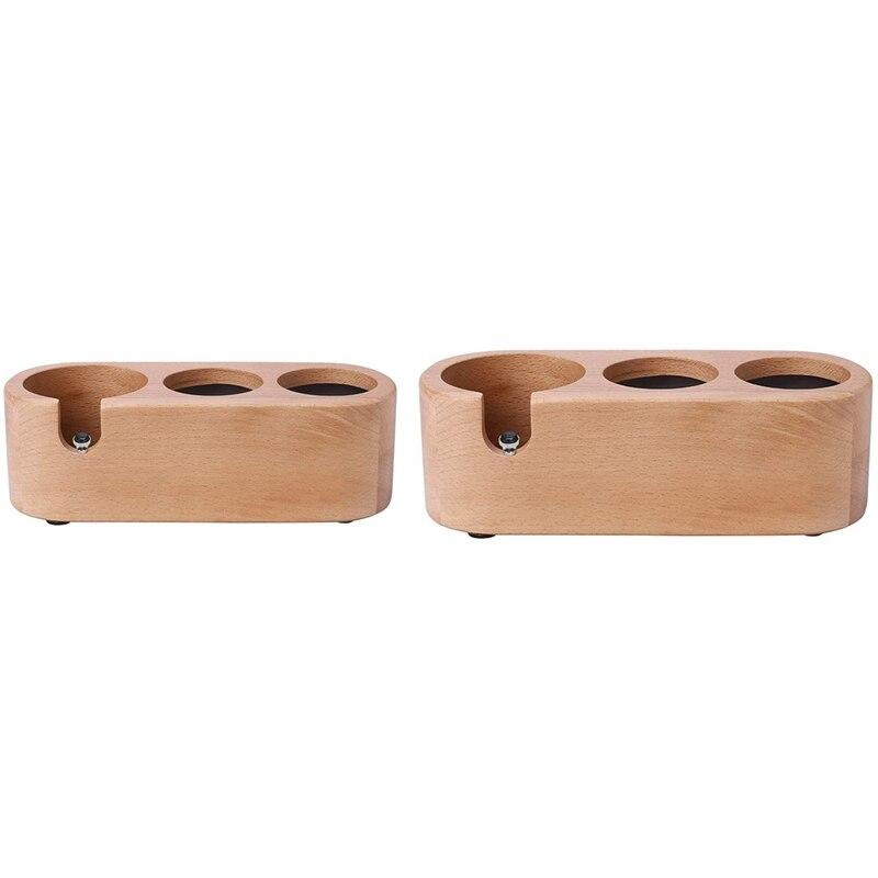 خشبية القهوة العبث ماكينة ضغط البودرة حامل ، قائم للقهوة قاعدة القهوة ملحق للمنزل مطبخ اسبريسو ضاغط