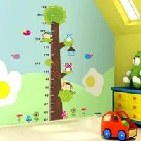 2019 hot sale wall sticker owls monkey height chart removable wall sticker decal vinyl kids baby decor