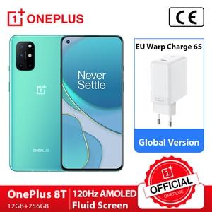 Чехол из ПВХ для OnePlus 8 T 8 T Snapdragon 865 5G смартфон 12 Гб 256 120 Гц жидкости Дисплей 48MP Quad камерами 65 Вт Warp заряда 4500 мАч
