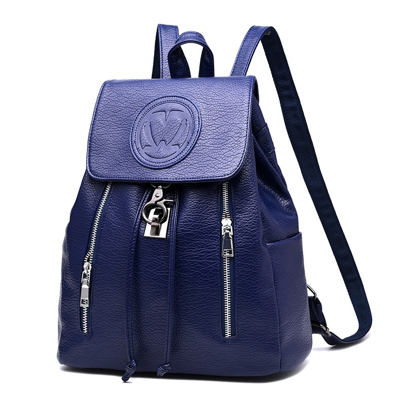 MONNET CAUTHY New Arrival Backpacks Practical Casual Fashion PU Bags Solid Color Navy Blue Black White Preppy Style String Bag