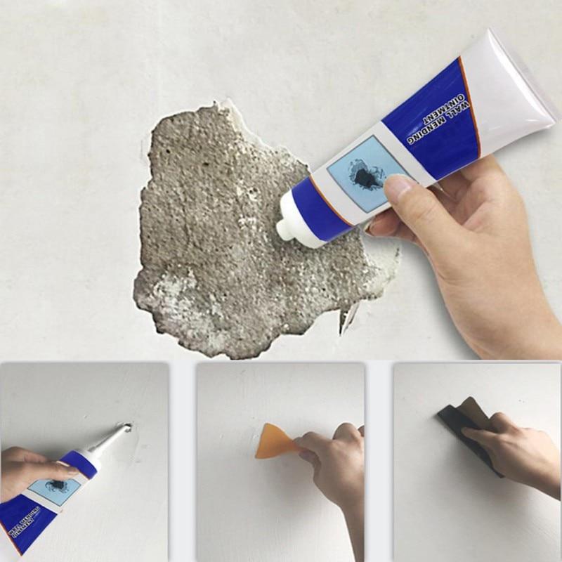 250g Reparación de pared ungüento Universal Reparación de pasta de reparación crema Grout hermoso sellador para agujeros pelados agrietados pared + raspador