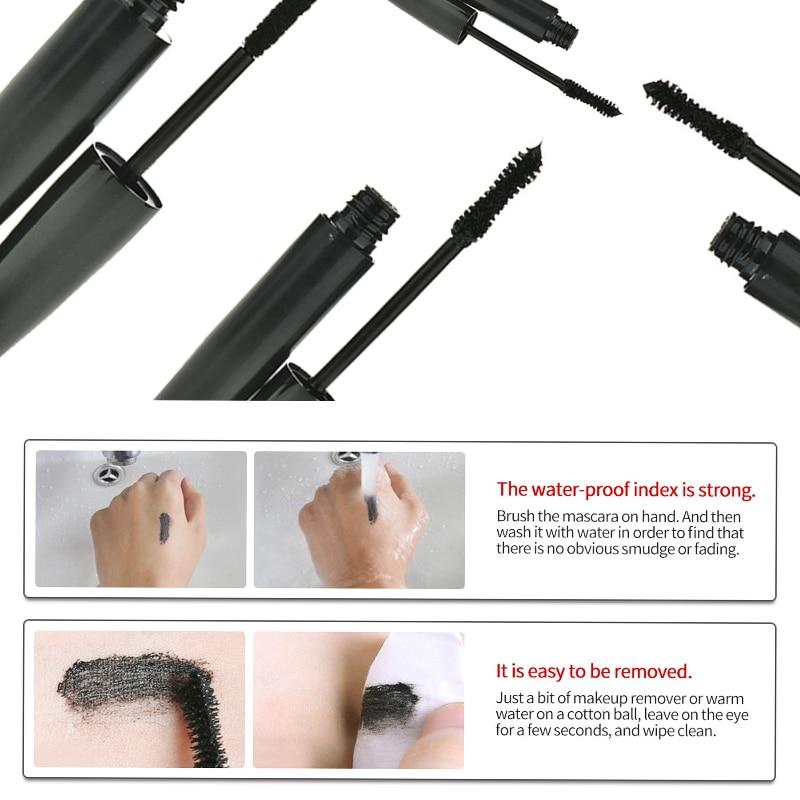 2Pcs 3D Fiber Lash Mascara Set Gorgeous Women Makeup Tool Luxurious Waterproof Eyes Lash Thick Curle