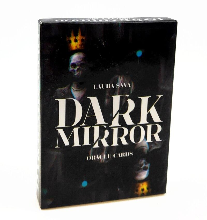 Tarot 32 pçs espelho escuro oracle kleine karten englisch cartas adivinhação guia para amigos para reunir e entreter jogos de cartas