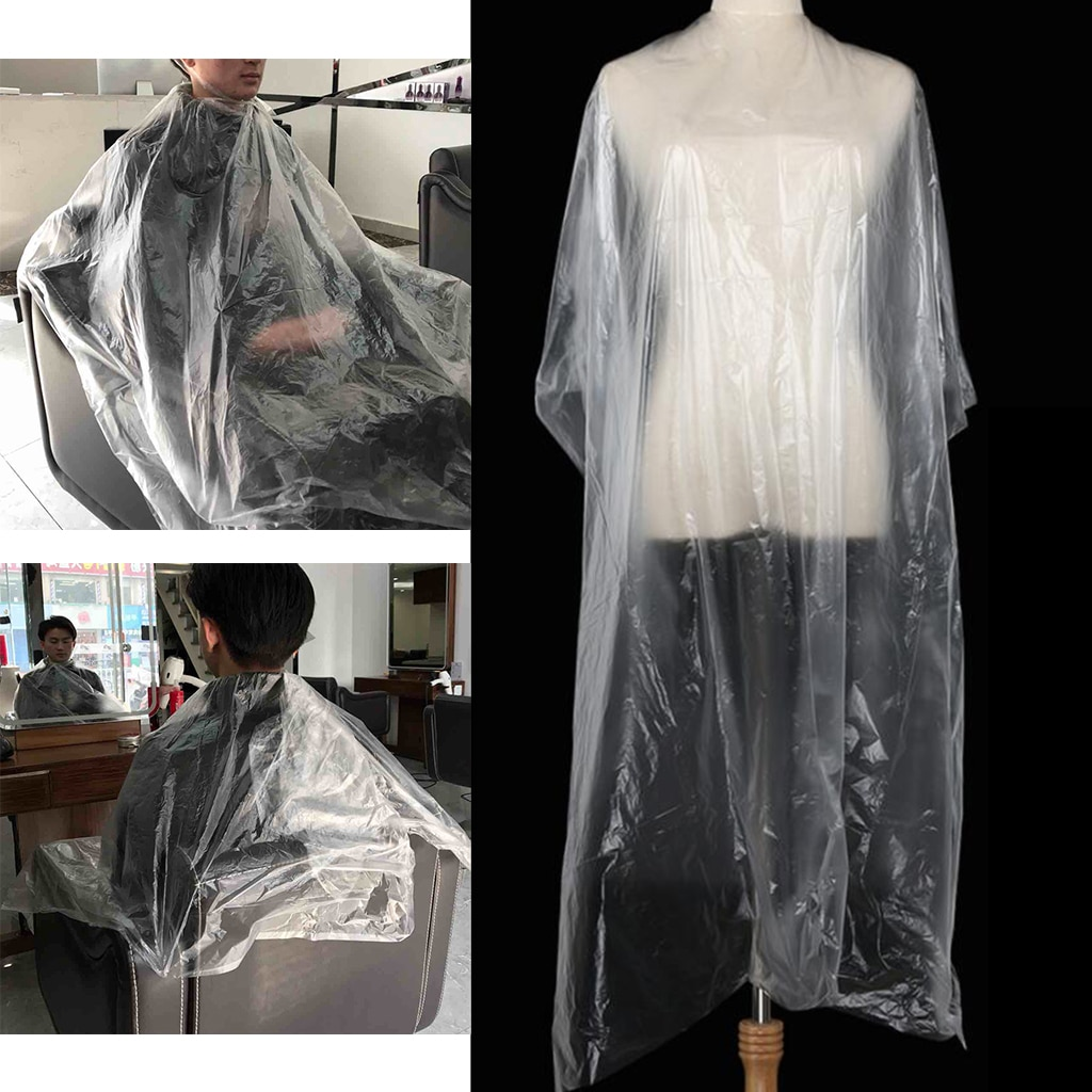 100x مقاوم للماء يمكن التخلص منها قص الشعر كيب ثوب حلاق متجر الرؤوس ث/هدية