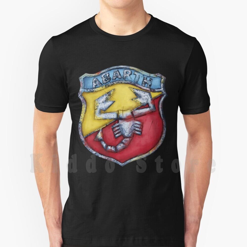 Abarth Shield-Camiseta estampada para hombre, Camisa de algodón, Fiat 1969, Abarth 131,...