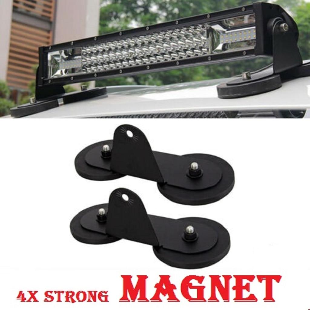 2Pcs Magnetic Mounting LED Bracket SUV Car Roof LED Light Bar Strong Magnetic Base Mount Strong Sucker Bracket Holder