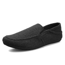 2020 KICKQZQP nouveaux mocassins hommes chaussures décontractées respirantes classique lin Slip baskets mâle été pas cher conduite chaussures pour hommes large