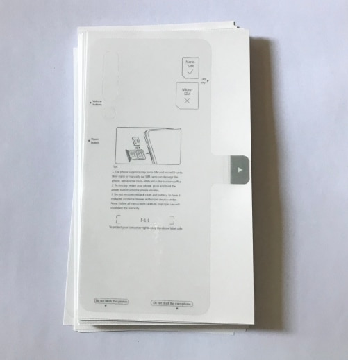 فيلم جديد للهاتف الخلوي من المصنع لشاشة Lcd تعمل باللمس مع غطاء خلفي ، طبقة واقية للبطارية لهاتف Huawei P20 Pro P30 Lite P30 Pro ، 100 قطعة