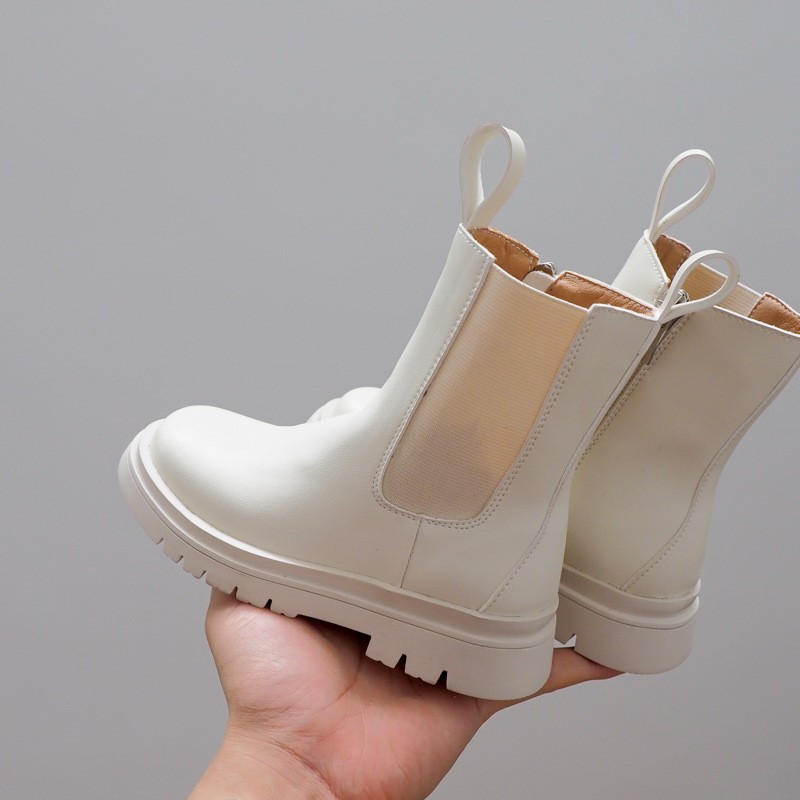حذاء جلد تشيلسي كاجوال للبنات والأولاد ، أحذية مدرسية ، ثلج ، دراجة نارية ، مجموعة جديدة 2020