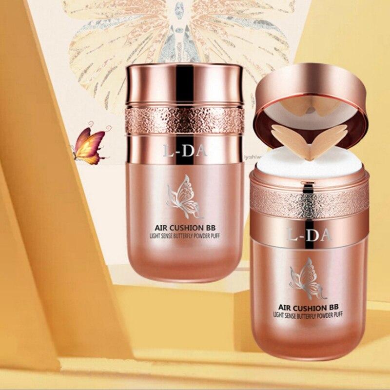 Maquillaje mariposa marfil blanco Air Cushion BB Cream corrector base líquido Air Cushion Cream