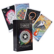Дикая неизвестная колода для карт Таро 78, английское руководство для таро, правовое пророчение, игра в карты