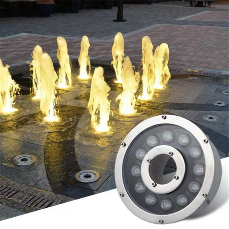 Water Fountains Pool Led Lights Underwater Light Dive Light Water Fountain Fish Tank Submersible Led Pool Lights 24w Garden Led enlarge