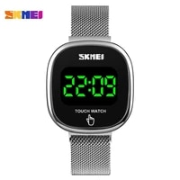 skmei japan movement digital mens watch led touch screen electronic male wrist watches waterproof clock relogio masculino 1589