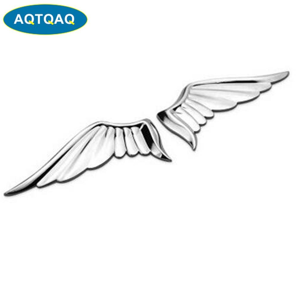 AQTQAQ 3D ala de Ángel de Metal guardabarros lateral pegatina para maletero emblema insignia para Jeep BMW Ford Volvo Nissan Mazda VW