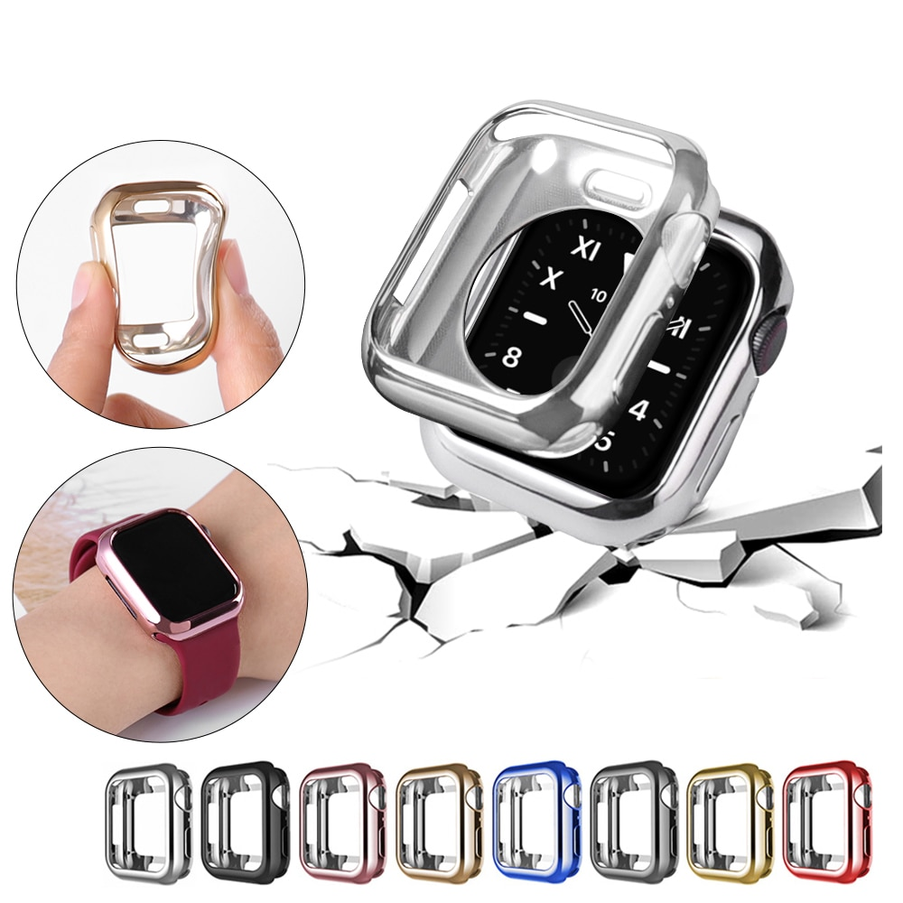 case for apple watch series 6 5 4 3 2 1 se band all around ultra thin screen protector cover iwatch case 44mm 40mm 42mm 38mm Screen Protective Case for Apple Watch 6 SE 5 44mm 40mm Ultra-thin Soft Cover for iWatch Series 6 5 4 3 21 38mm 42mm Accessories