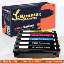 5 pièces Compatible CC530A CC531ACC532A CC533A 530A Cartouche De Toner pour HP CP2020 CP2025 CP2025dn CP2025n CM2320 CP2025x imprimante