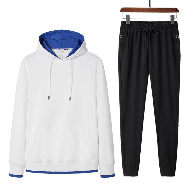 2021 Brand New Hoodies Men Sets Slim Fit Male Set Warm Tracksuit Fashion Men Clothing Sets Hooded Sweatshirt Male Suit Clothing