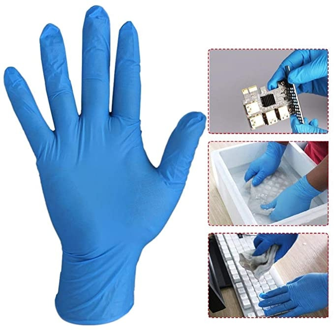 100PC Nitrile Disposable Gloves Waterproof Powder Free Latex Gloves For Household Kitchen Laboratory Cleaning latex gloves