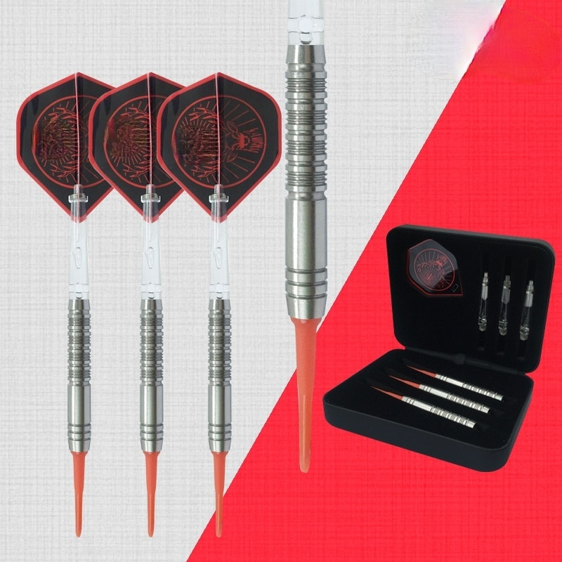 darts life Professional Tungsten Steel Darts Set Competition Grade 20g 85% Tungsten Steel Darts Electronic Darts Soft Darts 3 Pack