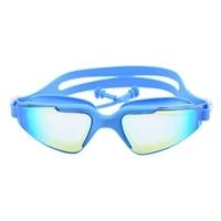 swimming glasses earplug adult waterproof anti fog uv men women pool water swim eyewear silicone goggles sea