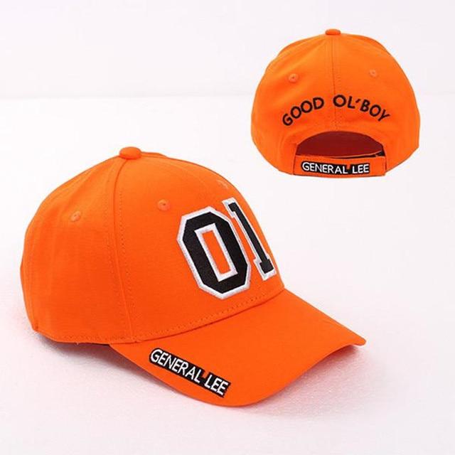 General Lee 01 Embroidered Cotton Cosplay Hat Orange Good OL' Boy Dukes Baseball Cap Adjustable 6