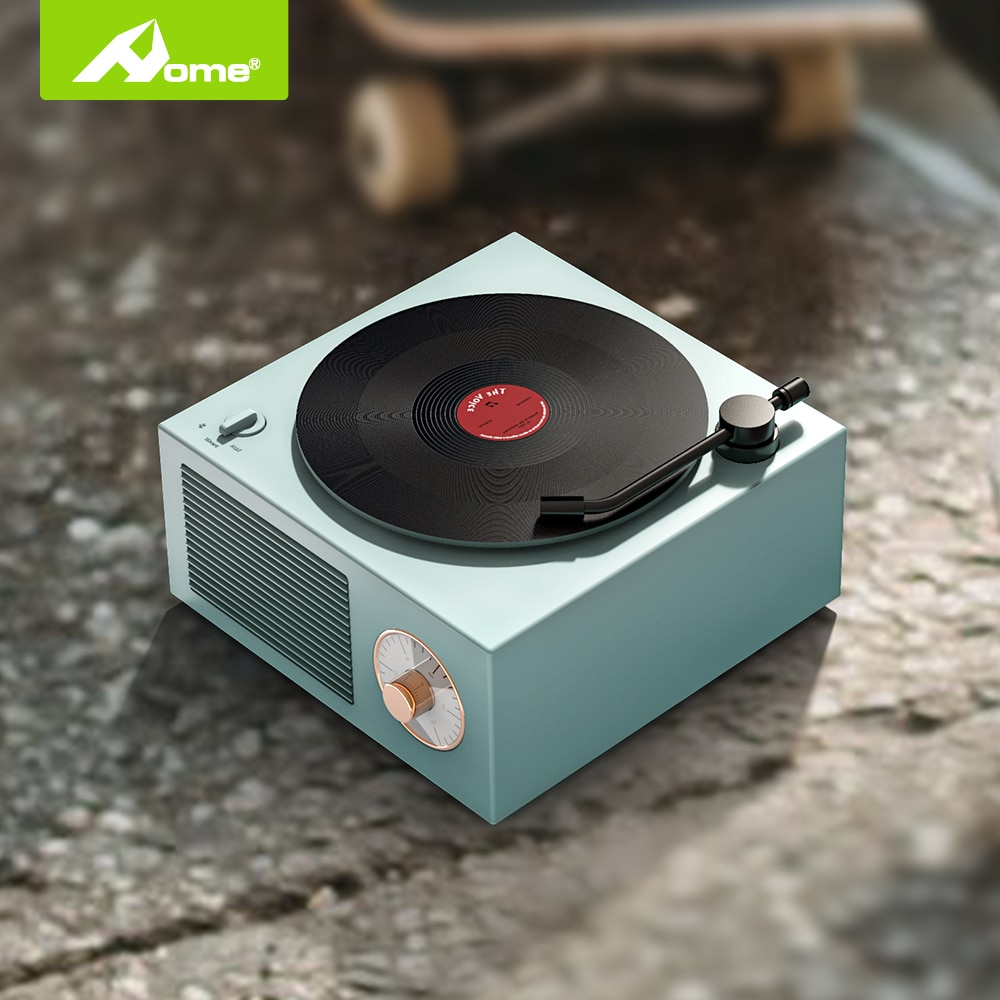 Classic Bluetooth Speaker With Model Vinyl Records Stereo Surround Retro Soundbar Subwoofer Wireless Portable Loudspeaker