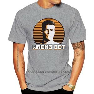 Novo Awol Jean Claude Van Damme Wrong Bet Branco Masculino Camiseta Tamanho S-5XL 2021 Leisure Fashion T-shirt 100% Cotton