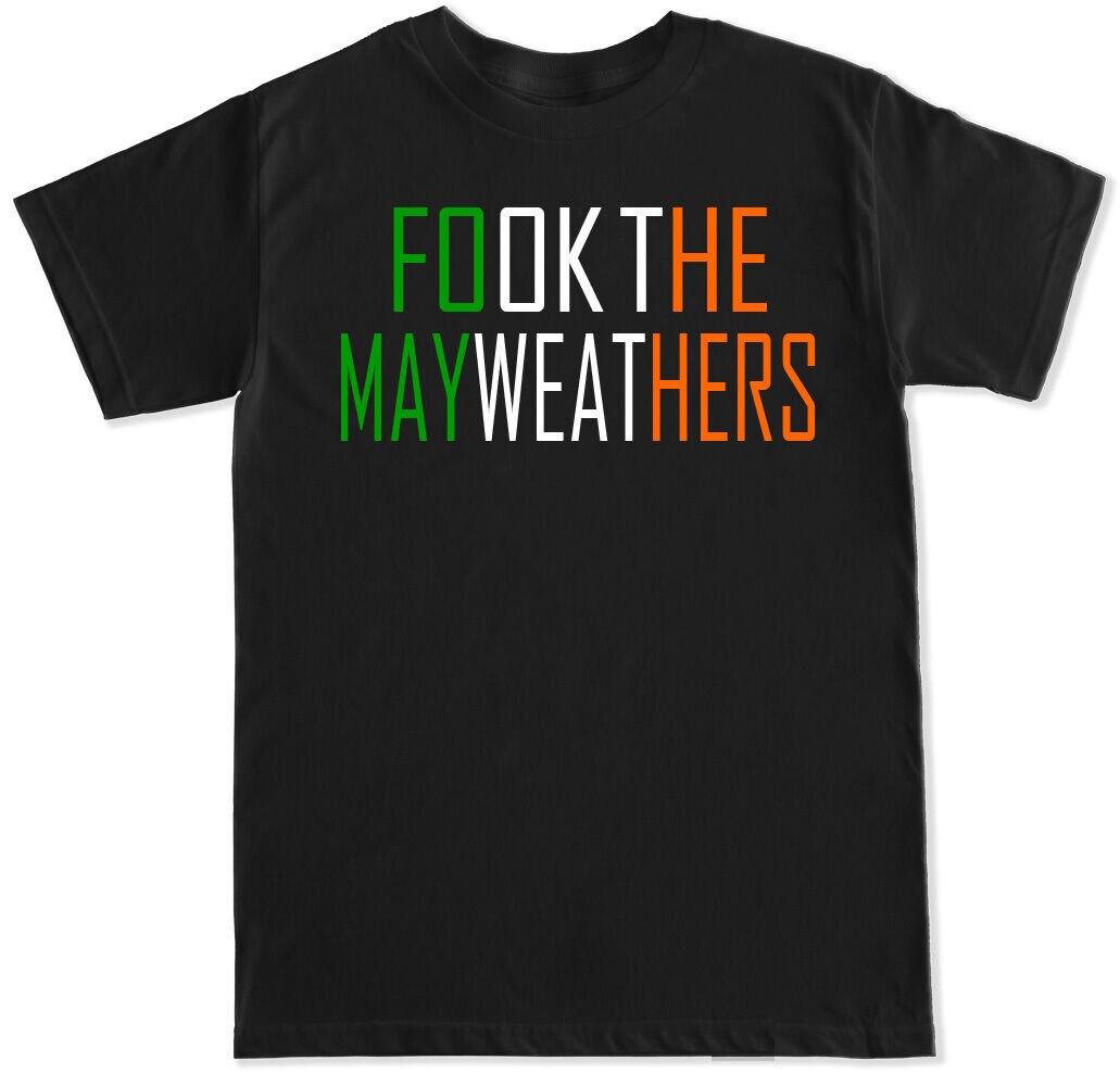 FOOK La MAYWEATHERS CONOR Harajuku Hipster camiseta hombres MCGREGOR irlandesa lucha FLOYD boxeo MENS T camisa