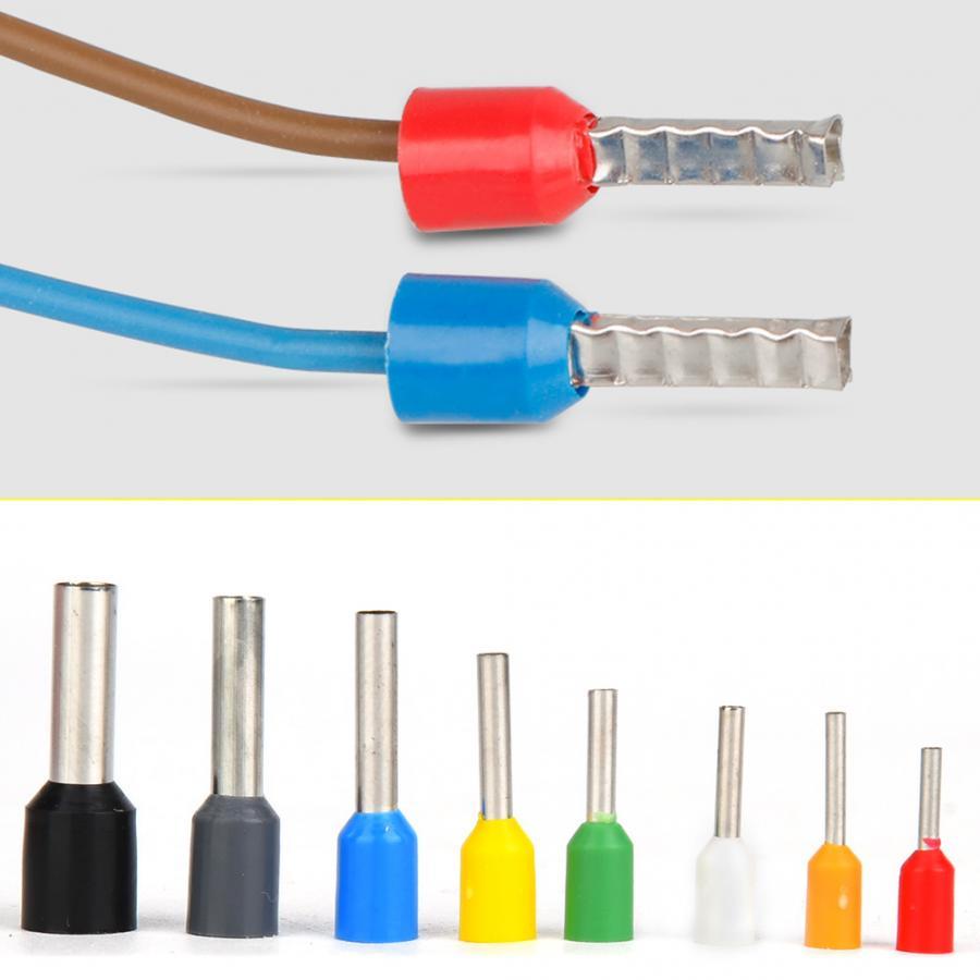 400Pcs Connection Terminal Crimp Terminal Tin Plated Copper with PVC Insulator Pin End Terminal Kit