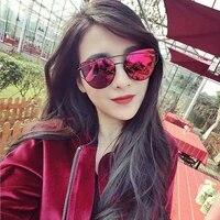 fashion brand cat eye sunglasses women twin beams sun glasses female retro coating mirror glasses flat panel lens