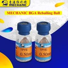 11 Pcs/lot boules de soudure au plomb mécanique 0.2/0.25/0.3/0.35/0.4/0.45/0.5/0.55/0.6/0.65/0.76mm balles de remballage pour outils de retouche BGA