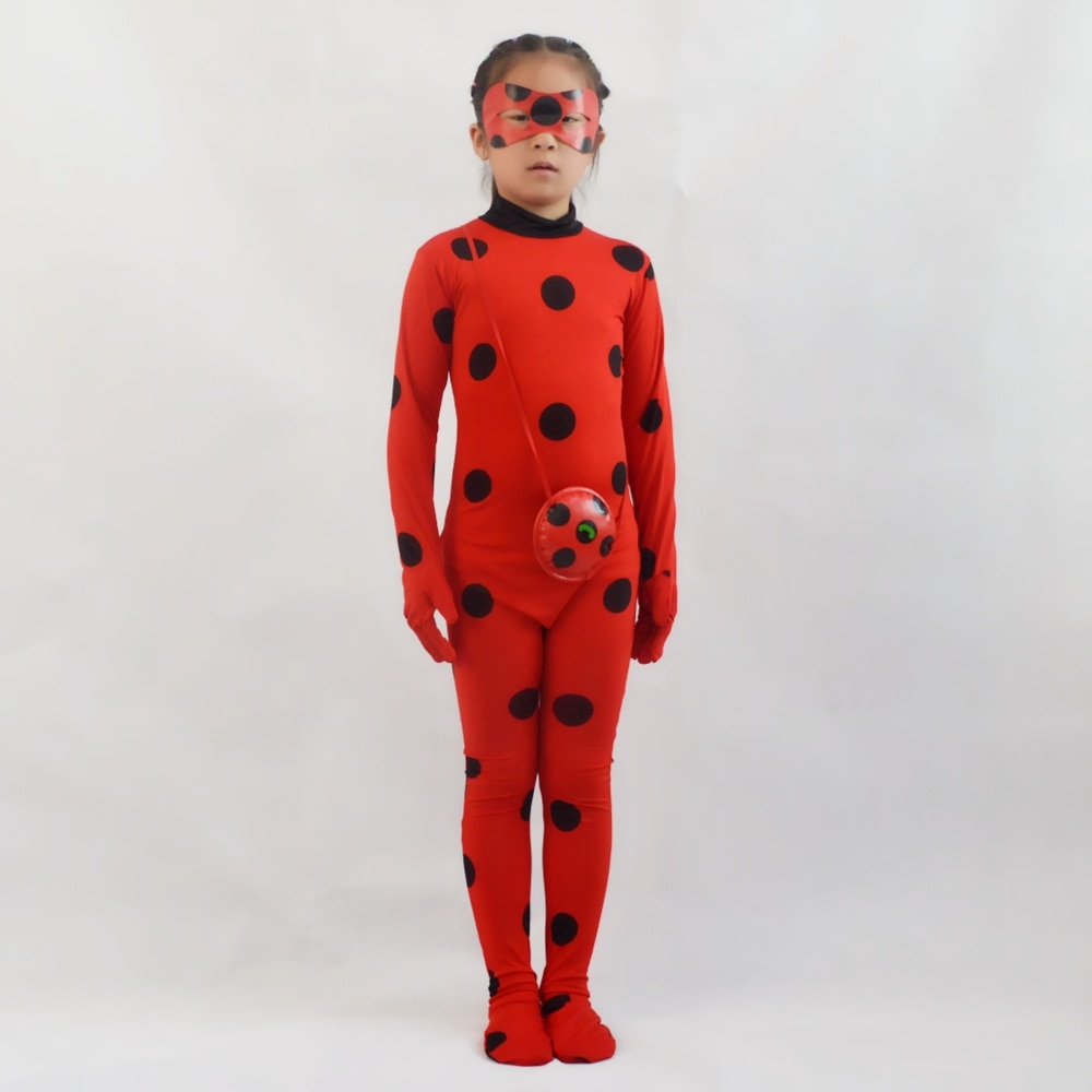 child adult cosplay amazing spiderboy tights halloween costume zipper suit super heroes bodysuit for kids party Halloween Costume for Kids Girl - Red Ladybird Little Beetle Dress Up Suit Jumpsuit Party Cosplay for Teen Toddler Child
