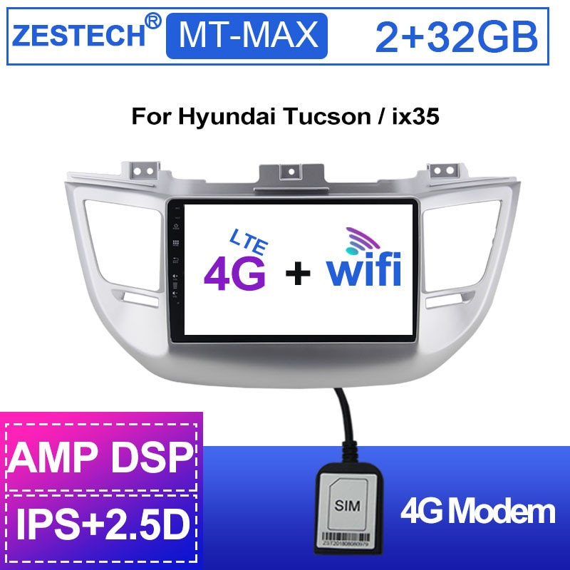 ZESTECH 4G LTE Android 1 din coche Radio para Hyundai Tucson/ix 35 2016 2017 AutoRadio para Tucson reproductor de DVD del coche de navegación GPS