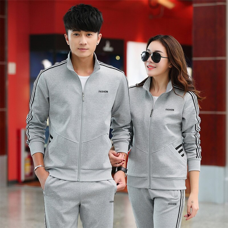 Primavera y otoño hombres deporte ocio traje de mujer ropa deportiva estilo coreano moda conjunto de parejas de manga larga