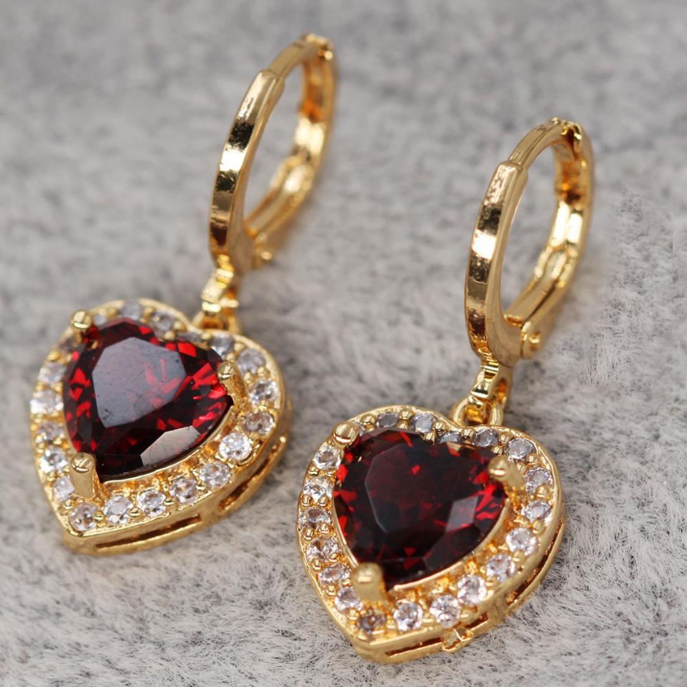 AliExpress - Luxury Bohemian heart Earrings for Women's earrings Gold Filled  dangle Drop Earring Trendy Jewelry for Party Wedding Gift