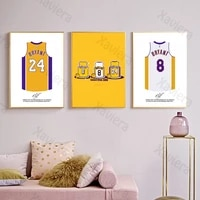 kobe bryant basketball uniform canvas painting for interior basketball super star art poster home decoration boys room picture