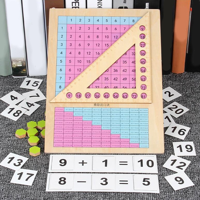 Kids Mathematics Montessori Teaching Aids Toy Kids Preschool Math Learning Toy Wooden Toys For Children Kids Birthday Gift
