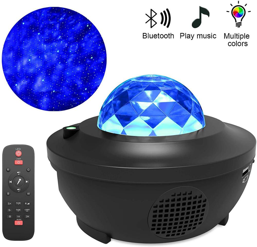 Colorful Starry Sky Projector Blueteeth USB Voice Control Music Player LED Night Light Romantic Proj