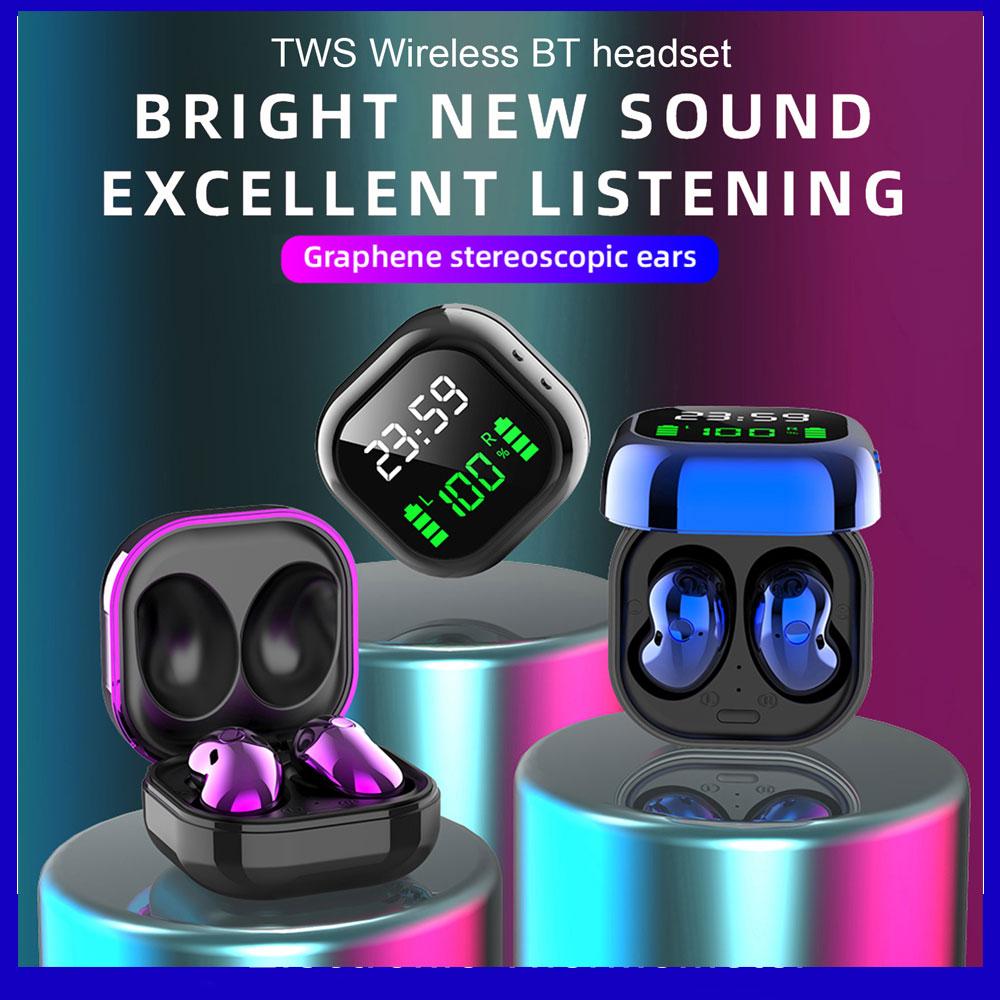 S6 Plus TWS écouteurs Bluetooth 5.1 sans fil écouteurs avec micro horloge temps et puissance affichage numérique sport écouteurs musique écouteurs