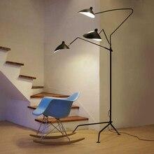 Nordic simples luzes de assoalho serge mouille designer lâmpada sala estar em pé lâmpadas de alumínio suporte da lâmpada do quarto luz assoalho