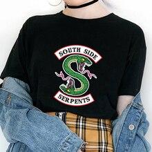 Riverdale T-shirt femmes été Harajuku hauts sud côté Serpents femme T-shirt Riverdale serpent imprimé drôle Vintage t-shirts chemise