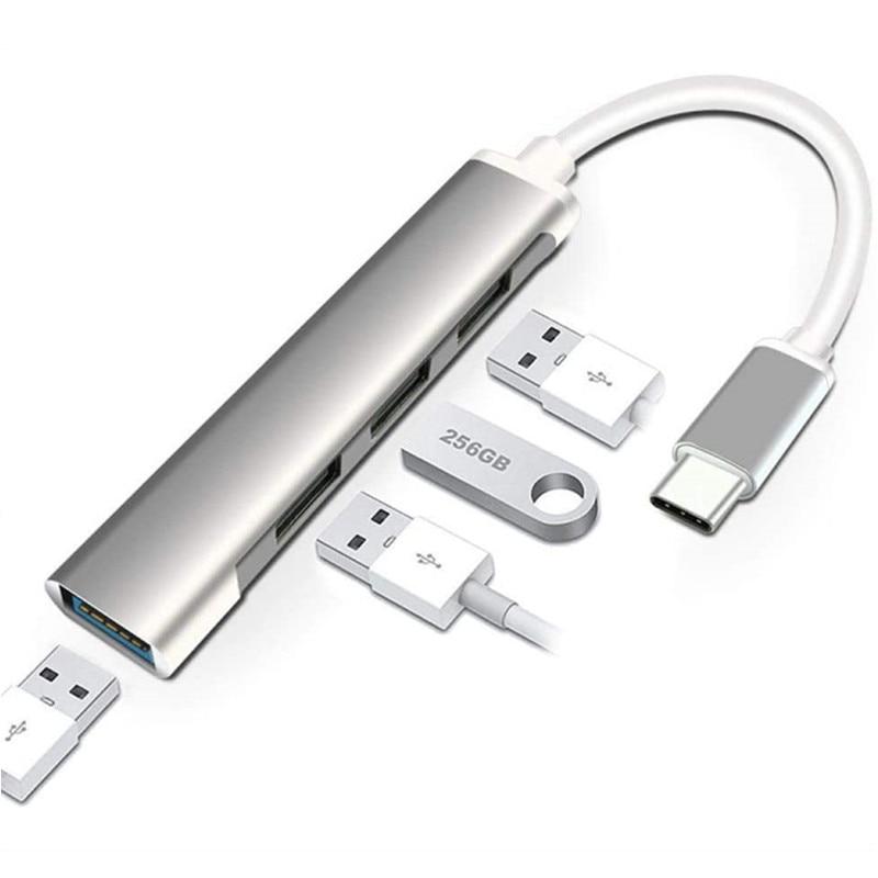 USB C HUB 3.0 Type C 3.1 4 Port متعدد الفاصل محول OTG لينوفو شاومي ماك بوك برو 13 15 Air Pro PC ملحقات الكمبيوتر