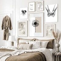 Affiches et imprimes beiges abstraites modernes  toile De fond douce pour la maison  peinture  images dart mural pour salon  maison