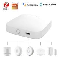 ZigBee     Hub passerelle pour application Tuya  dispositif de maison intelligente pour porte temperature fumee capteur de mouvement  fonctionne avec Alexa Google Home  nouveau